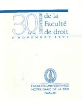 Livret des 30 ans de la Faculté en 1997
