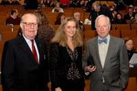 Nathalie Colette-Basecqz en compagnie d'Oscar Vandemeulebroeke et Jean du Jardin lors du colloque sur l'internement en 2007