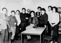 Le directeur du CRID, Yves Poullet, et son équipe en 1987
