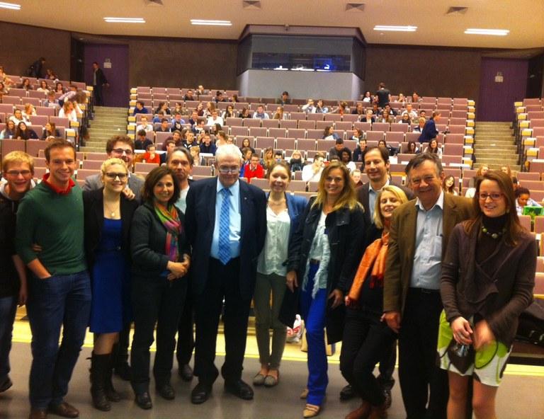Le professeur Philippe Thiry célébré lors de son dernier cours