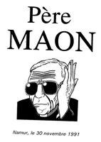 Cérémonie de départ du Père Maon (programme)